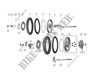 FRONT / REAR WHEELS for Mash FAMILY SIDE CAR EURO 4 400 2017
