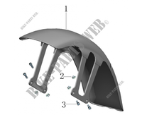 FRONT FENDER for Mash FAMILY SIDE EURO 4 400 2018