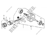 CRANKSHAFT / PISTON for Mash FIFTY (4T) 50 2017