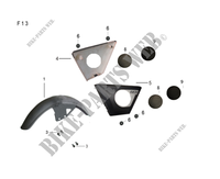 FRONT FENDER / SIDE PANELS for Mash FIFTY (4T) 50 2017
