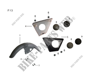 FRONT FENDER / SIDE PANELS for Mash FIFTY EURO 4 50 2018