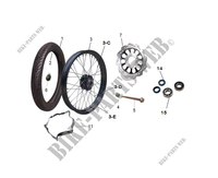 FRONT WHEEL / BRAKE for Mash FIFTY EURO 4 50 2018