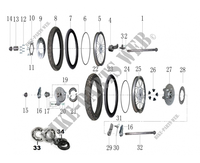 FRONT / REAR WHEELS for Mash SCRAMBLER 400 EURO 4 400 2018