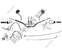 HANDLEBAR / SWITCHES / FRONT BRAKE for Mash SCRAMBLER 400 EURO 4 400 2018