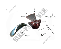 SIDE PANELS / FRONT FENDER for Mash SEVENTY FIVE EURO4 125 2017