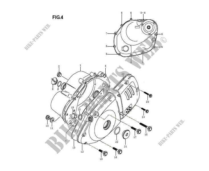 ENGINE COMPONENTS for Mash SEVENTY FIVE EURO4 125 2017