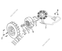 FLYWHEEL / STATOR for Mash SIXTY FIVE 125 (4T) 125 2013