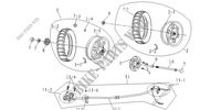 FRONT / REAR WHEELS / BRAKES for Mash SIXTY FIVE 125 (4T) 125 2013