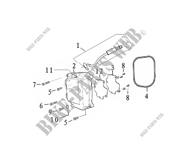 CYLINDER HEAD COVER for Mash SIXTY FIVE 125 (4T) 125 2014