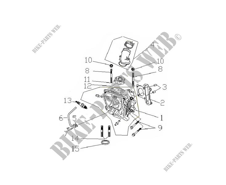 CYLINDER HEAD for Mash SIXTY FIVE 125 (4T) 125 2014