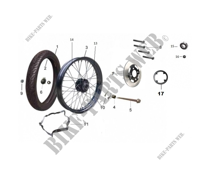 FRONT WHEEL / BRAKE for Mash TWO FIFTY EURO4 250 2018